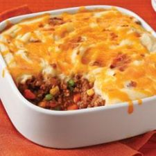 Shepherd's Pie with Bacon, Beef and Horseradish Blue Cheese Potatoes