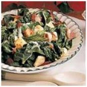 Warm Bacon Spinach Salad