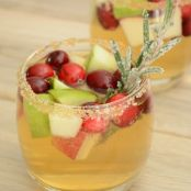 Apple Cider & Cranberry Sangria