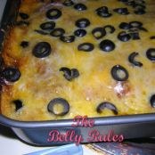 Chicken Enchilada Casserole with Chili Gravy