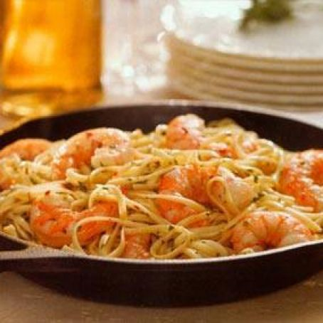 Skillet Shrimp Scampi with Linguine