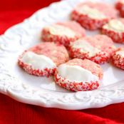 White Chocolate Cherry Almond Shortbread Cookies