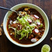 Red Pozole with Chicken (Pozole Rojo Con Pollo)