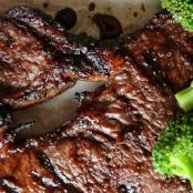Mongolian Glazed Steak with Broccoli
