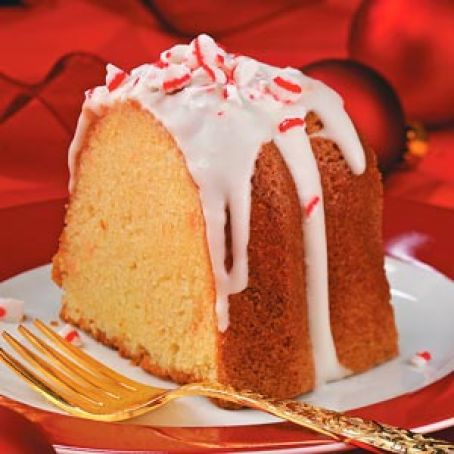 Peppermint Cream Pound Cake