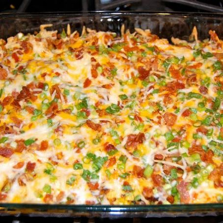 Everything Baked Potato & Chicken Casserole