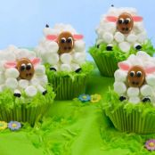 Easter Lamb Carrot Cupcakes