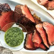 Grilled Beef Tenderloin With Three Herb Chimichuri