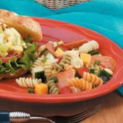 Tri-Color Rotini Pasta Salad with Pepperoni