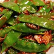 Szechuan Snow Peas with Shiitake Mushrooms