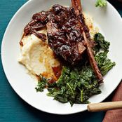 Cola-Braised Short Ribs with Polenta and Kale