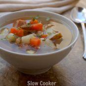 Crockpot Leftover Ham Bone Soup