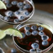 Sparkling Blueberry Lime Martini