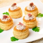 Puff Pastries with Russian Tuna Salad