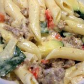 Baked Penne with Sausage, Zucchini, and Fontina