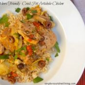 Crock Pot Artichoke Chicken Recipe - WW = 4 Points Plus