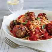 Spaghetti and Meatballs in Tomato-Basil Sauce