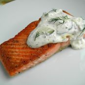 Salmon with Creamy Cucumber Sauce