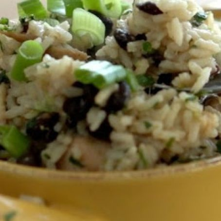 One Pan Chicken with Lime, Rice & Black Beans
