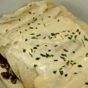 Beef Enchiladas with Sour Cream Sauce