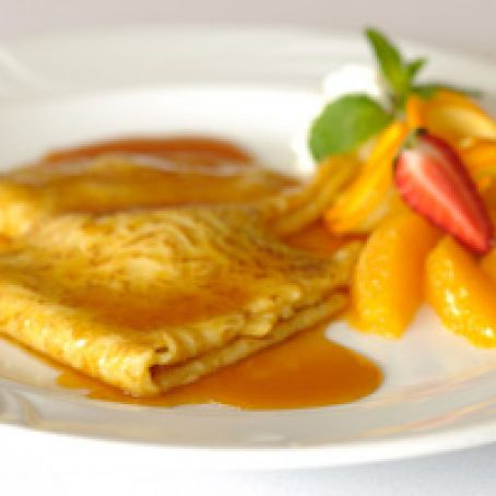 French Pancakes with Orange Sauce