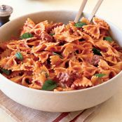 Farfalle with Sausage, Tomatoes and Cream