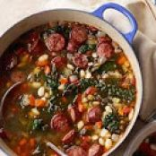 Soup: Sausage and White Bean Stew with Kale