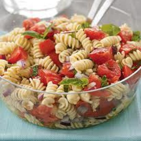 Basil Chicken and Pasta Salad