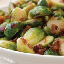 Honey-Roasted Brussels Sprouts And Bacon
