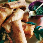 Crispy Turkey Kathi Rolls with Dipping Sauce