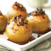 Walnut Stuffed Slow cooked Apples