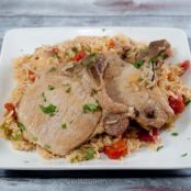 Pressure Cooker Pork Chops and Rice