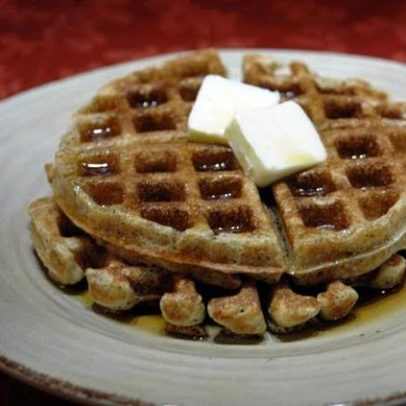 Poppy Seed Whole Grain Waffles