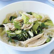Asian Turkey Noodle Soup with Bok Choy
