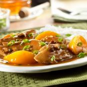 Pork Tenderloin with Peach & Pecan Sauce