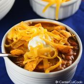 Slow Cooker Beef and Sausage Chili