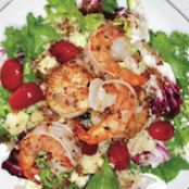 Seared Shrimp, Scallop and Grape Tomato Couscous Salad