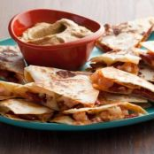 Chorizo and Shrimp Quesadillas with Smoky Guacamole