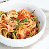 Lobster Tail Fra Diavolo with Zucchini Noodles