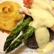Surf & Turf: Steak Oscar with Duchess Potatoes