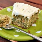 Zucchini Cake with Lime Cream Cheese Frosting