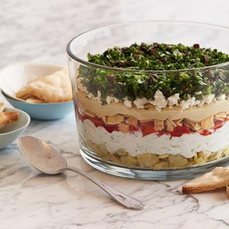 7-Layer Vegetarian Greek Dip