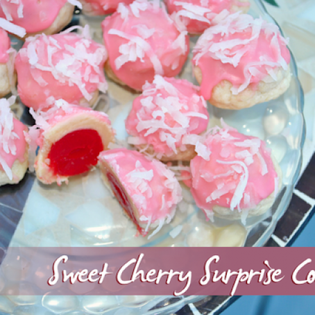 Sweet Cherry Surprise Cookies