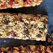 Pumpkinseed, Date & Tahini Bars