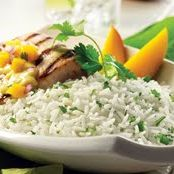 Coconut Mango Grilled Fish With Rice
