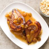 Roasted Pears with Golden Raisins and Hazelnuts