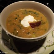 Sweet Potato Soup with Creamed Spinach
