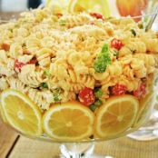 Lemon Pasta Salad (made a day in advance and served cold)