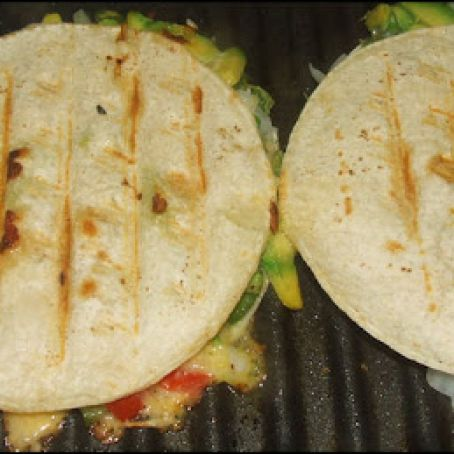 Chicken Quesadillas on George Foreman Grill