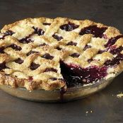 Classic Lattice Top Blueberry Pie